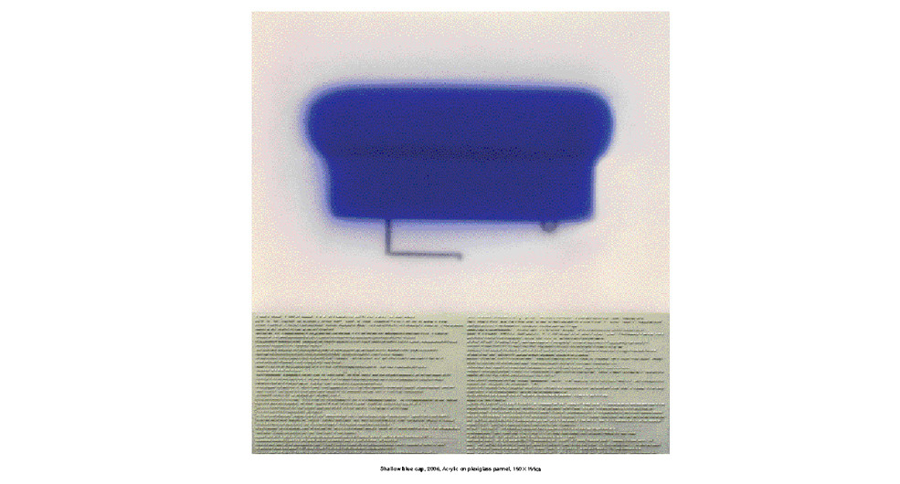 Rhee, Ki-Bong, Shallow Blue Cap, 2006, acrylic on plexiglas panel, 101.5 x 107.5 cm