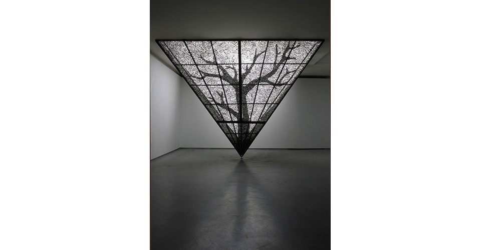 Choi, Tae-Hoon, Skin of Time1, 2007, steel and light, 350 x 350 x 300 cm