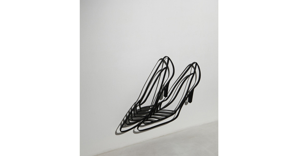 Drawing-Sculpture, 2010, aluminum, 41 x 54 cm