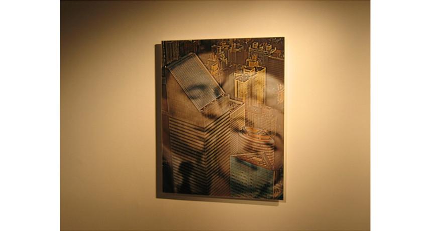 Yves and Marilyn New York Skyline Proxxi Composite, 2003, digital Print, 61 x 76 cm, Edition of 10