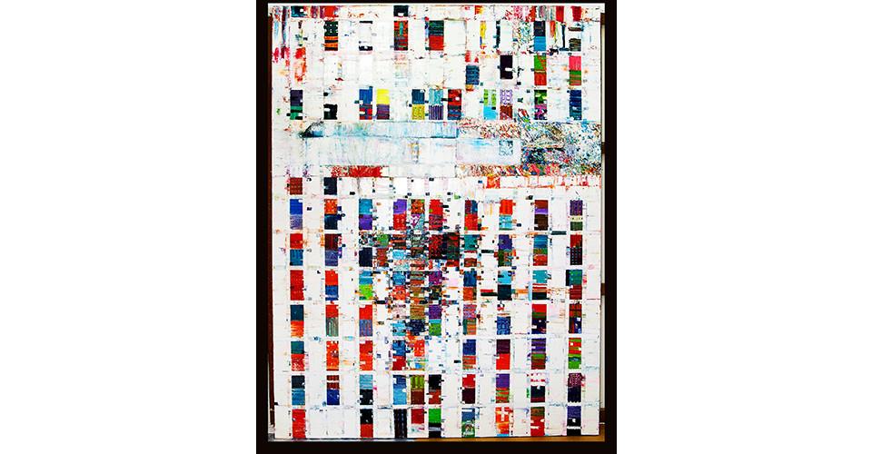Choi, In-Sun, 수직, 수평, 풍경, 2007, oil on canvas, 194 x 259 cm