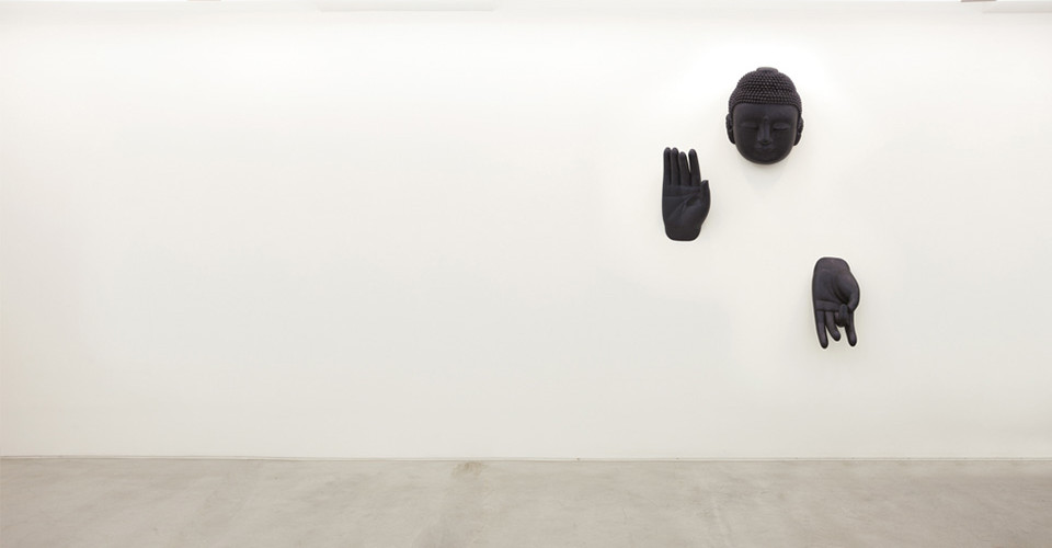 Installation view of For The Worshipers at solo exhibition, Conjuring Constellations, Gallery Simon, 2011