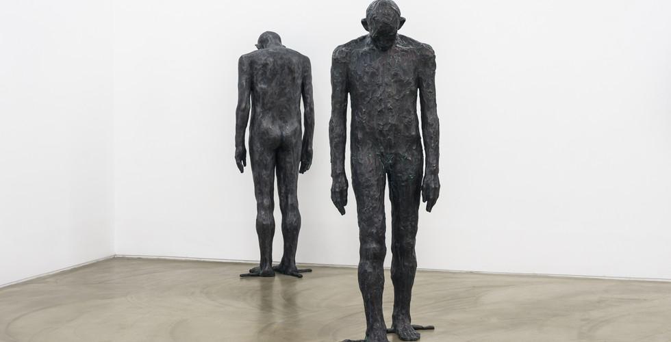 Bae Hyung Kyung, A Part from Allusion, 2016-2017, bronze, 57 x 60 x 182 cm, 60 x 50 x 178 cm