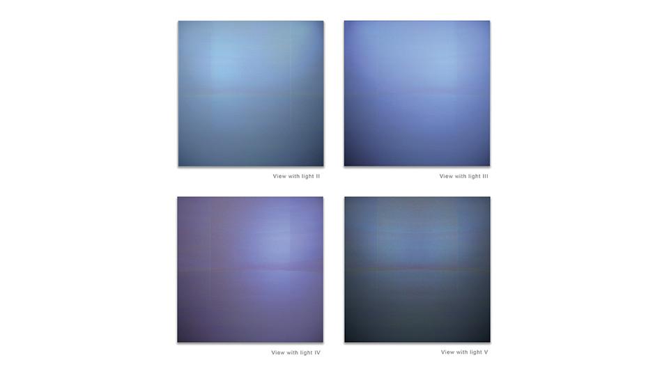 Circular Horizon, 2010, acrylic on wood panel, 123 x 123 cm each