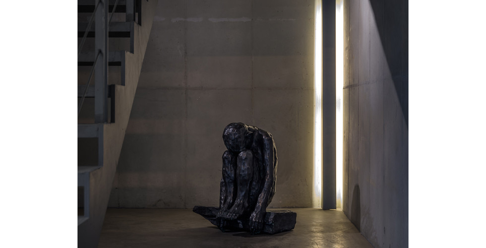 Bae Hyung Kyung, A Part from Lying with Mahler, 2017, bronze, 50 x 42 x 80 cm