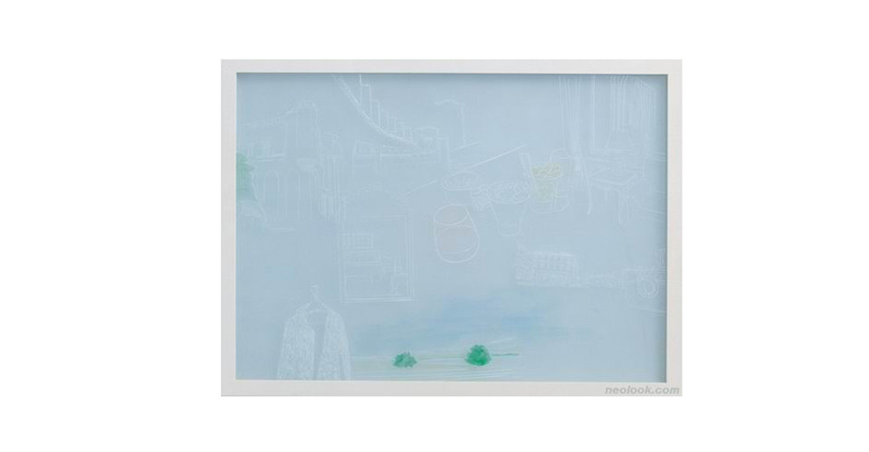 Hwang, Hae-Sun, Window of Memories, 2007, mixed media, 118 x 83 cm