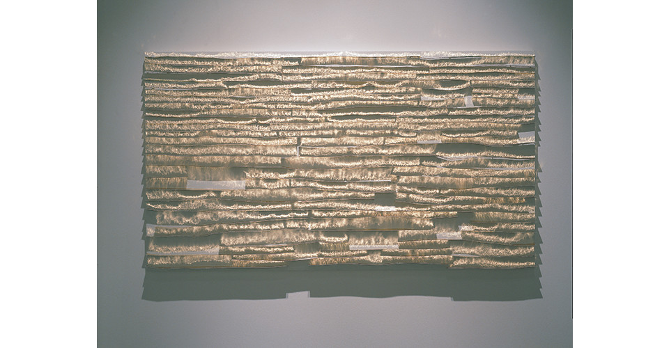 River-Light, 2006, aluminum on canvas, 160 x 90 cm
