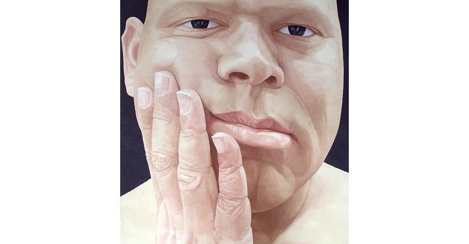 Byen, Ung-Pil, Portrait as a men ? Mr. Fernades from India, 2006, 130 x 150 cm