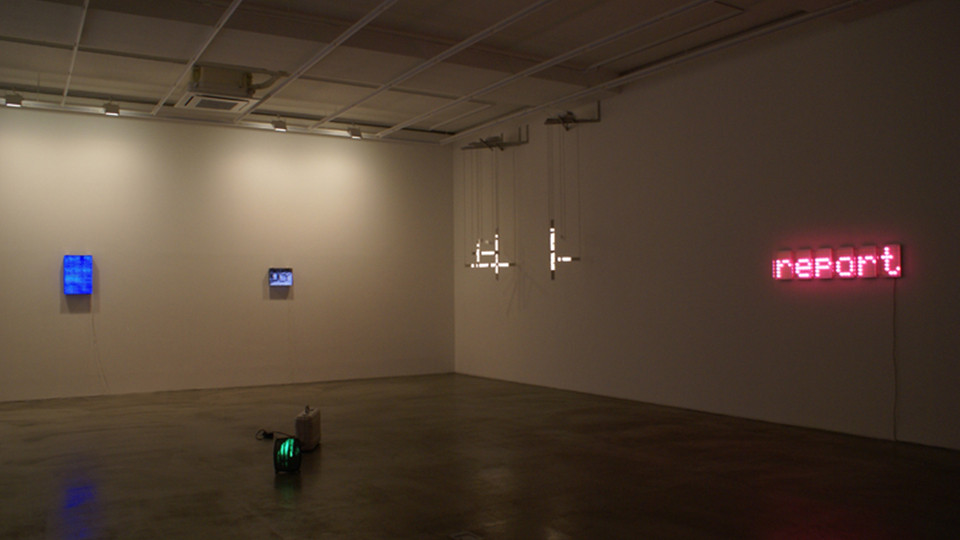 Installation view of Digital Transitions V, 2011 at Gallery Simon, Seoul