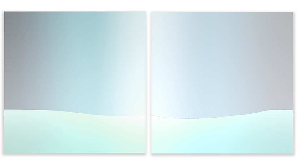 Circular Horizon12, 2005, acrylic on wood panel, 50 x 50 cm each