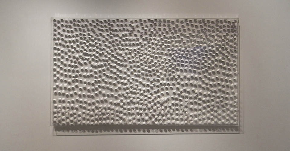 From Parma Light to Light, 2009, stainless steels on canvas, 90 x 160 cm