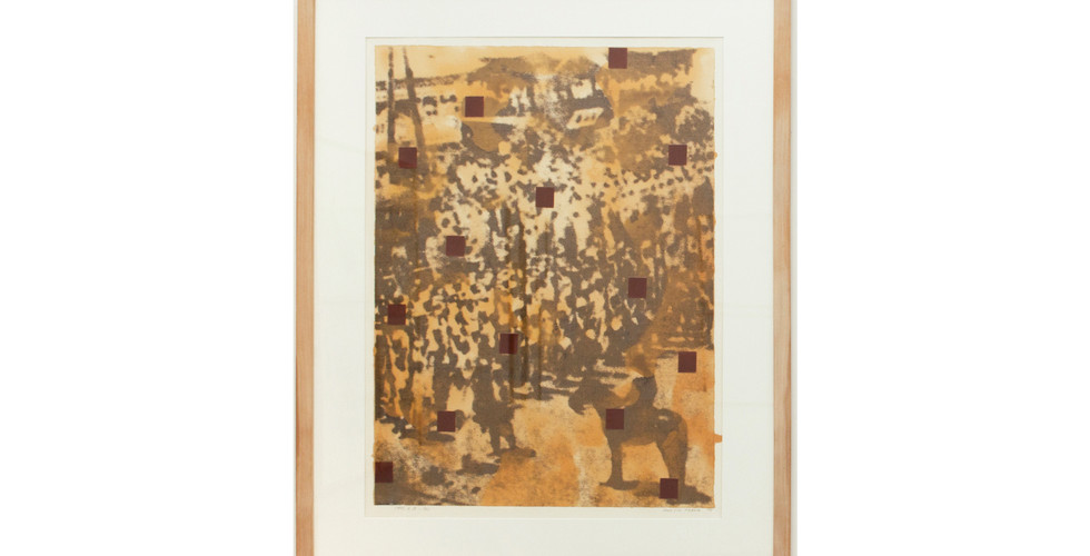 Chang Hwa Jin, Since 1995. 8.15 (2), 1995, print, varnish and red oxide on paper, 116x95.5cm