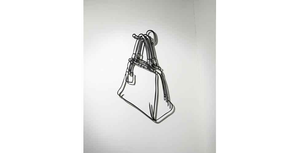 Drawing-Sculpture, 2010, aluminum, 81 x 47 cm