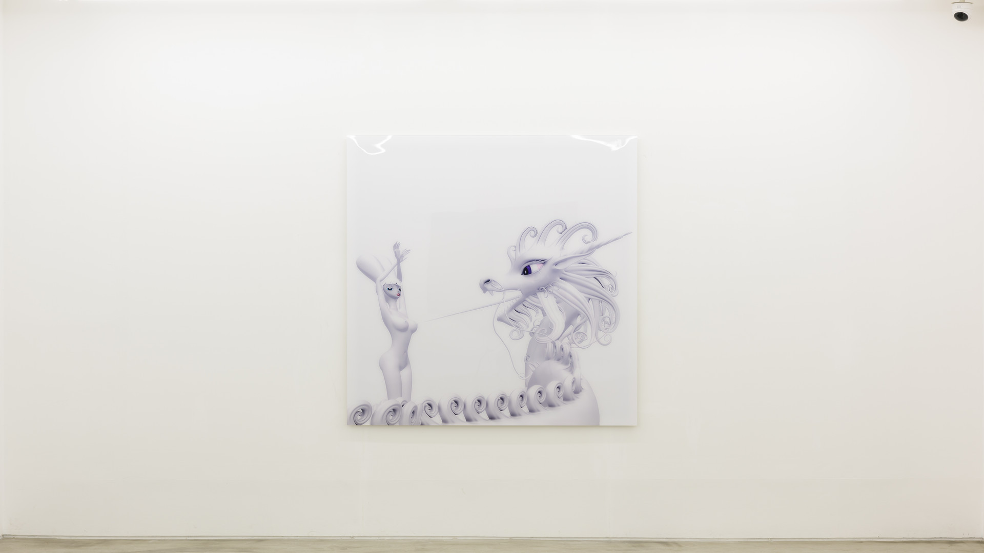 Like My Tongue, white, 2011, C print, Perspex, 165.1x165.1cm, Ed 1 of 5