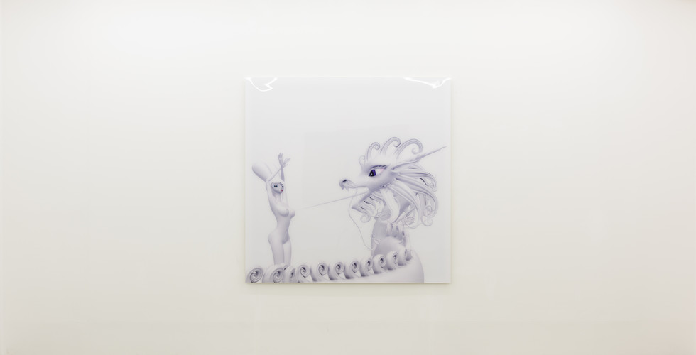 Like My Tongue, white, 2011, C print, Perspex, 165.1x165.1cm, Ed 1 of 5