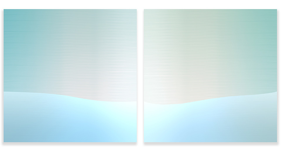Circular Horizon5, 2005, acrylic on wood panel, 50 x 50 cm each