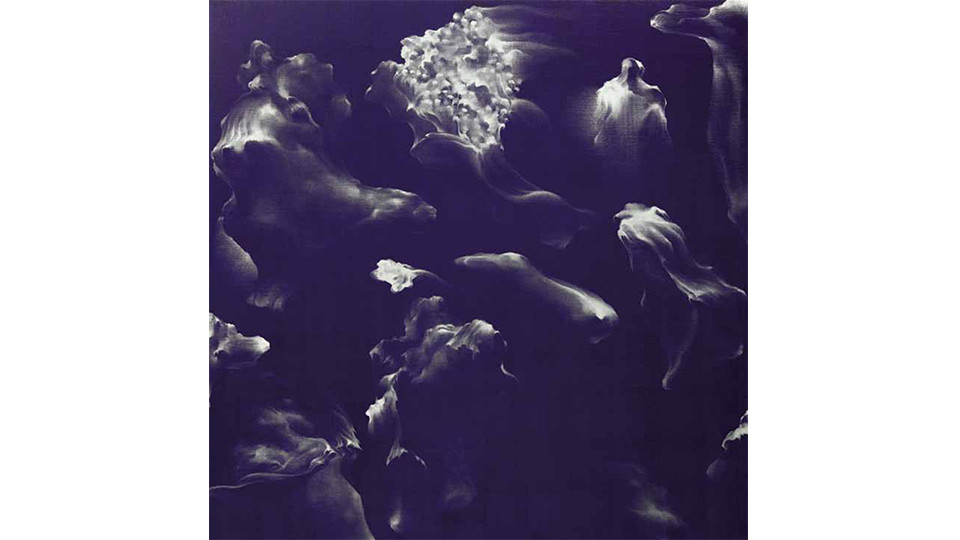 Secret Garden #254_purple, silver, 2011, acrylics, oilstick on canvas, 122×122×7cm