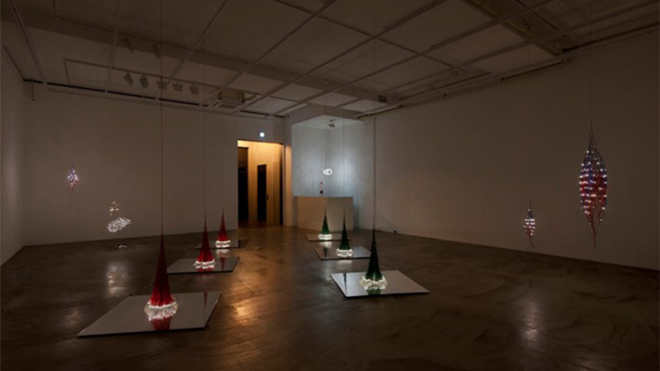 Installation view of solo exhibition, On the Circuit, Gallery Simon, 2011