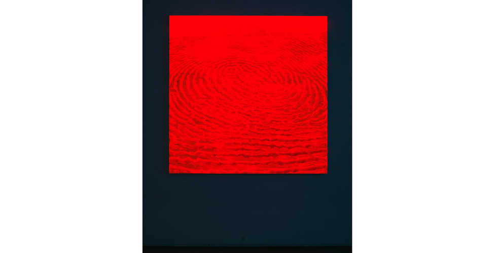 Light Lines_#2180102_2018_acrylic&phosphorescent pigment on canvas_137 x 137 cm