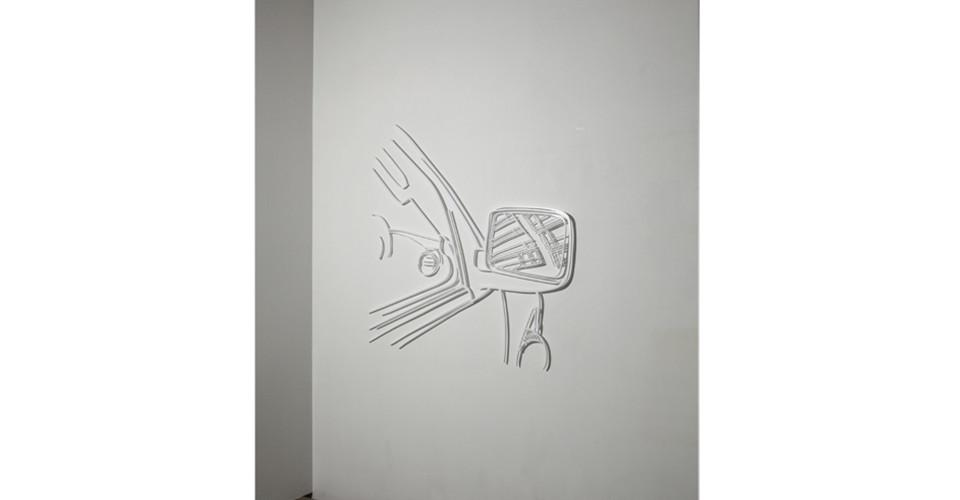 Drawing-Sculpture, 2010, aluminum, 153 x 146 cm