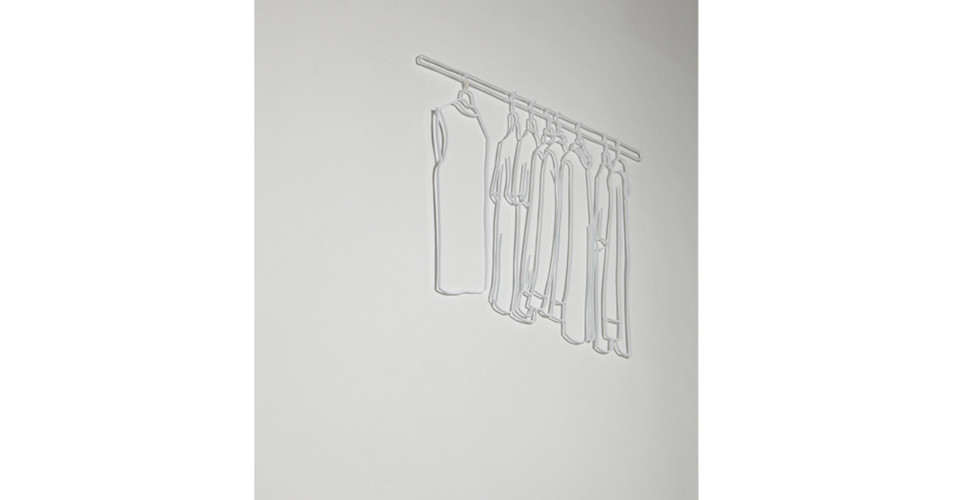 Drawing-Sculpture, 2010, aluminum, 95 x 75 cm