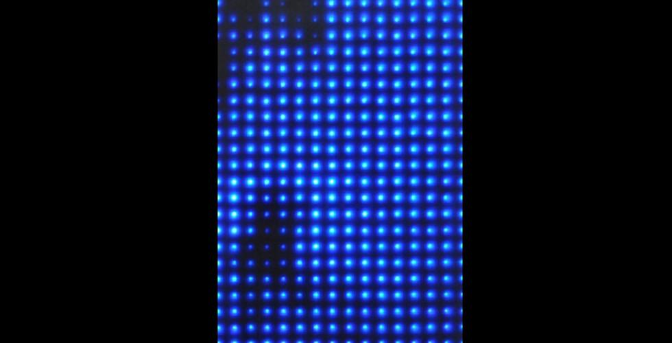 Reconstruction No. 12, 2009, custom electronics, 384 LEDs, cast resin, 21 12 x 14 12, Edition of 3