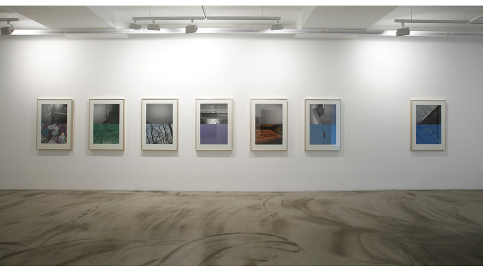 Installation view of Solitude Series and To Communicate Humbly 1, 3 Acts 5 Scenes Happy Together, Gallery Simon, 2013