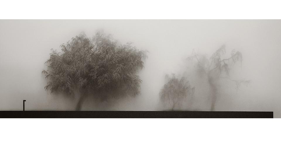 Rhee, Ki-Bong, The Misty, 2007, plexiglas, acrylic, canvas, 226 x 80.5 cm