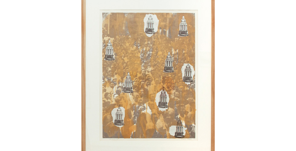 Chang Hwa Jin, Since 1995. 8.15 (1), 1995, print, varnish and red oxide on paper, 116x95.5cm