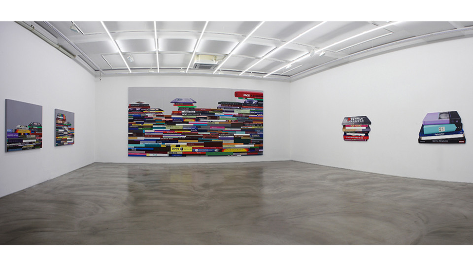 Installation view of The Concern of Book the Consolation of Light, Gallery Simon, 2014