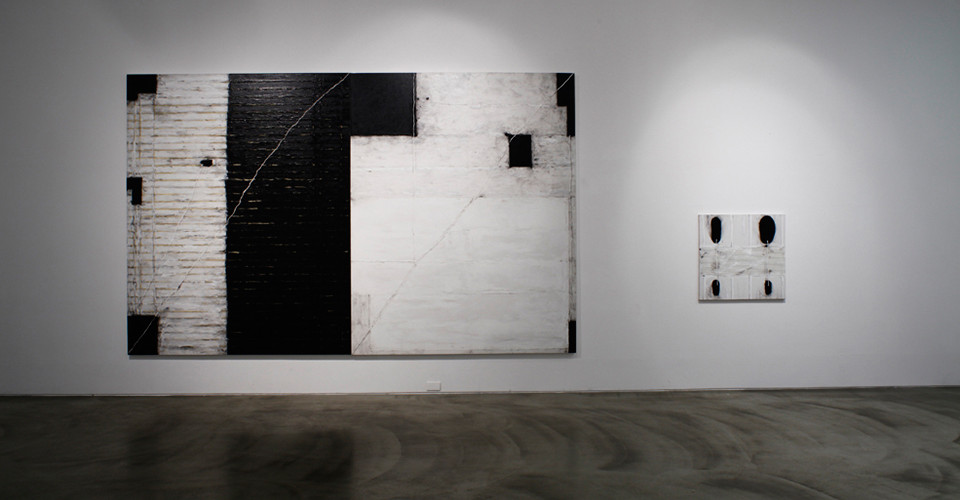 Installation view of Landscape against blue sky, 3 Acts 5 Scenes Happy Together, Gallery Simon, 2013