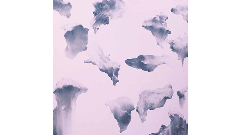 Secret Garden #259_pale pink,paynes gray, 2011, acrylics, oilstick on panel, 122×122×7cm