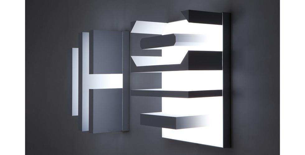 """""""마음"""" """"Mind"""", 2015, ABS, LED, 75 x 99(h) x 39.5cm each"""