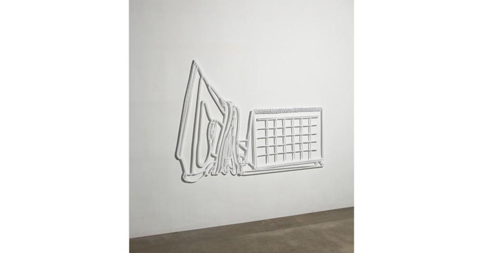 Drawing-Sculpture, 2010, aluminum, 114 x 155 cm