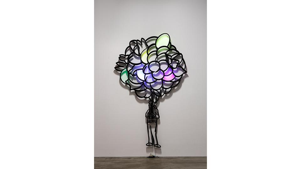 풍선들 The Balloons, 2012, stainless steel, LED light, 180 x 280 x 5 cm
