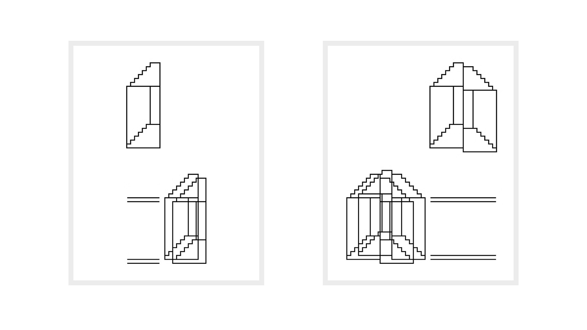 Hong Seung-Hye, Drawing for 'On and Off', 2014, wood framed pigment print on paper, 50x40cm each