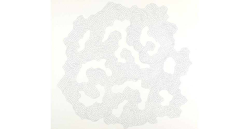 600개의 경첩을 위한 드로잉( Drawing for 600 Hinges ), 2009, pencil on paper, 90 X 92 cm