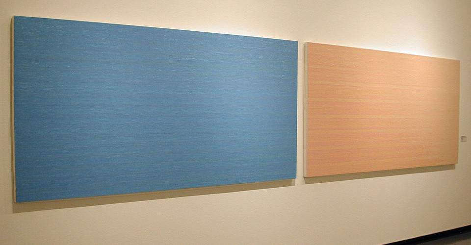 Noh, Sang-Kyoon, The Directions, 2000, sequins on canvas, 131 x 262 cm each