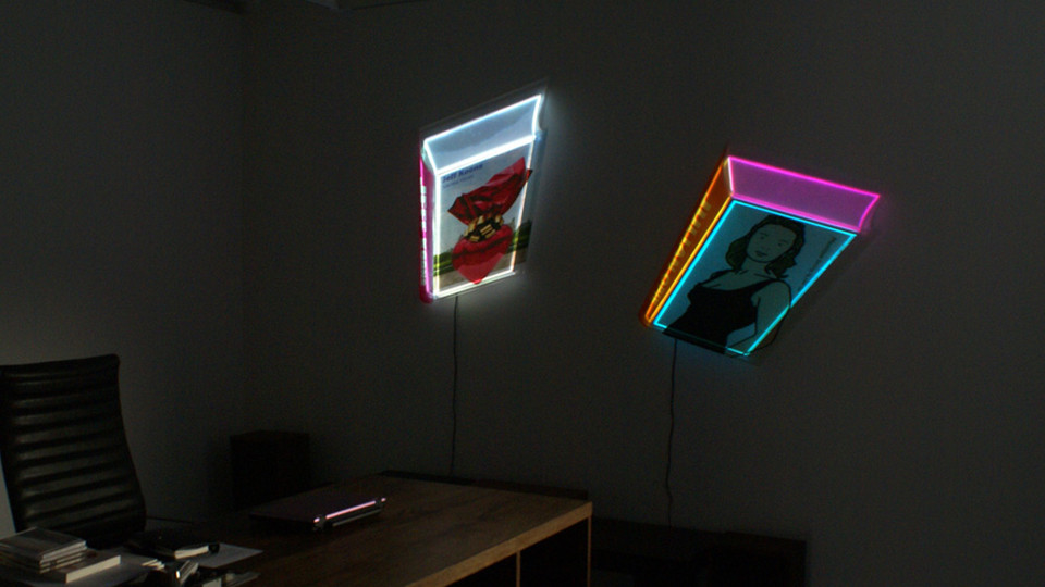 Installation view of Transformed Book from solo exhibition, The Luminous Poem, Gallery Simon, 2011