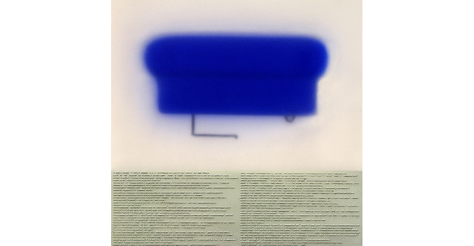 Shallow Blue Cap, 2006, acrylic on plexiglass panel, 101.5 x 107.5 cm