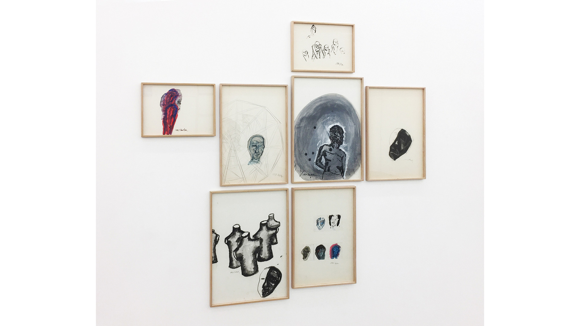 Oh Won-Bae, Installation View at Your Hand, My Heart, Gallery Simon, 2017