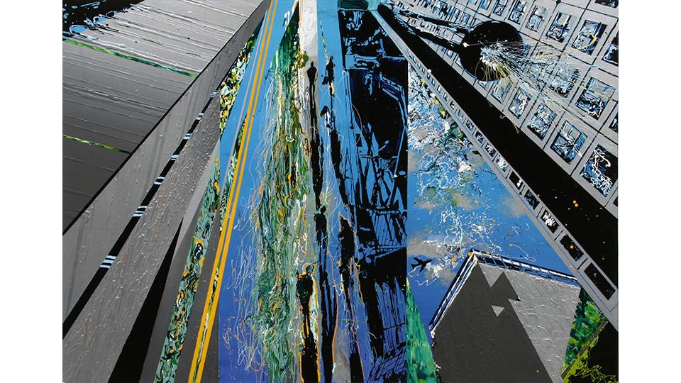 Kang, Yoo-Jin, Untitled, 2007, enamel and acrylic on canvas, 162 x 112 cm