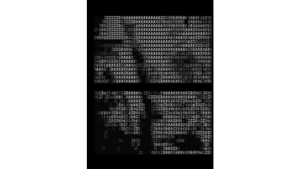 Tracing Types_BW, 2008, digital camera, LCD panel, computer, JAVA, dimensions variable