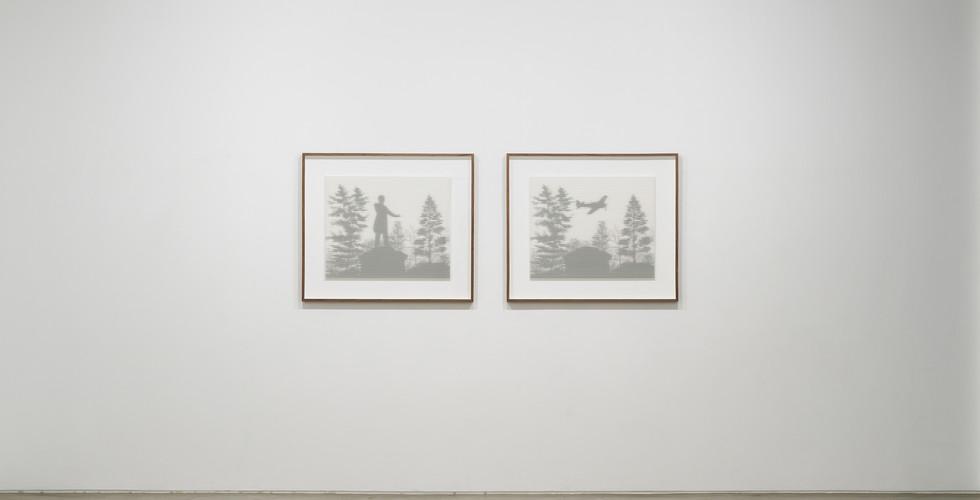 Underwood 01, 02, 2019, rising museum board, paint, wooden frame, 83 x 96 x 4.4 cm (each)