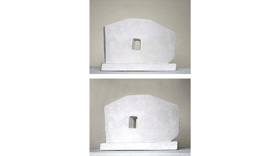 Window of the Earth (front and rear), 2006, granite, 247.5 X 341 X 77 cm