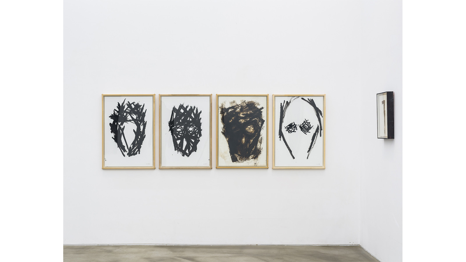 Drawing, 2014, 2014, 2009, 2014, 1997, col tar, oil bar (left to right)