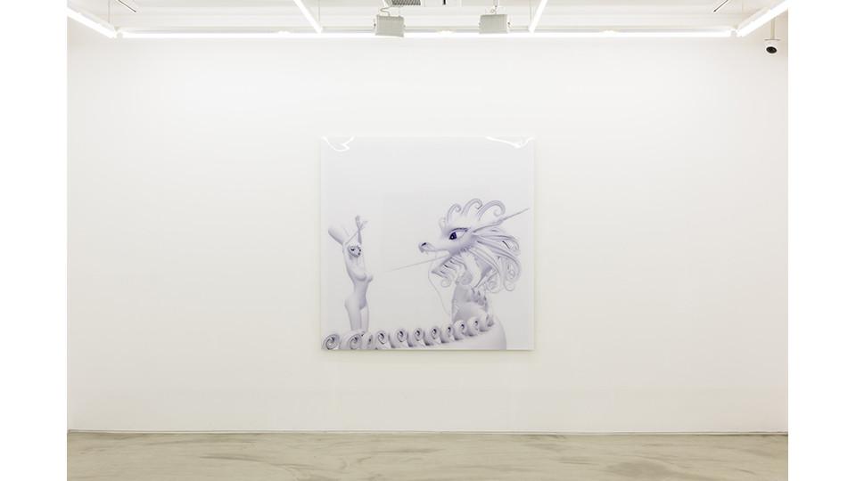 Like My Tongue, white, 2011, c print, perspex, 165.1 x 165.1 cm