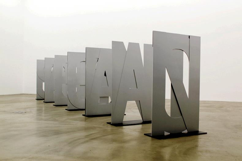 Not an Absolute Object but Absolute Seeing, 2012, laser cut aluminum, 7 pieces of 74.5 x 120 cm