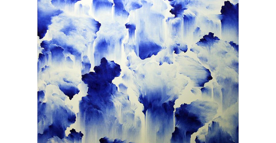 Moon, Beom, Slow, Same #405, 2008, acrylics, oilstick on canvas, 112 x 146 cm