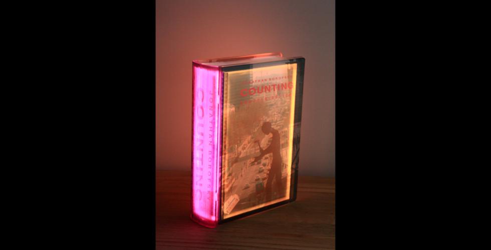 Kang, Airan, Lighting Book (Jonathan Borofsky), 2007, LED lighting book, plastic box, 24.1 x 16.5 cm